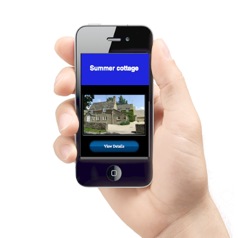 Mobile with landing page